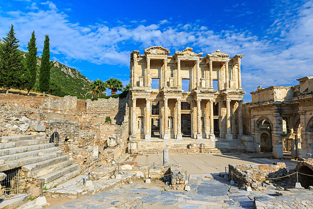 Epesus, Turkey Library of Celsus at the ancient city of Ephesus, Selcuk, Turkey celsus library stock pictures, royalty-free photos & images