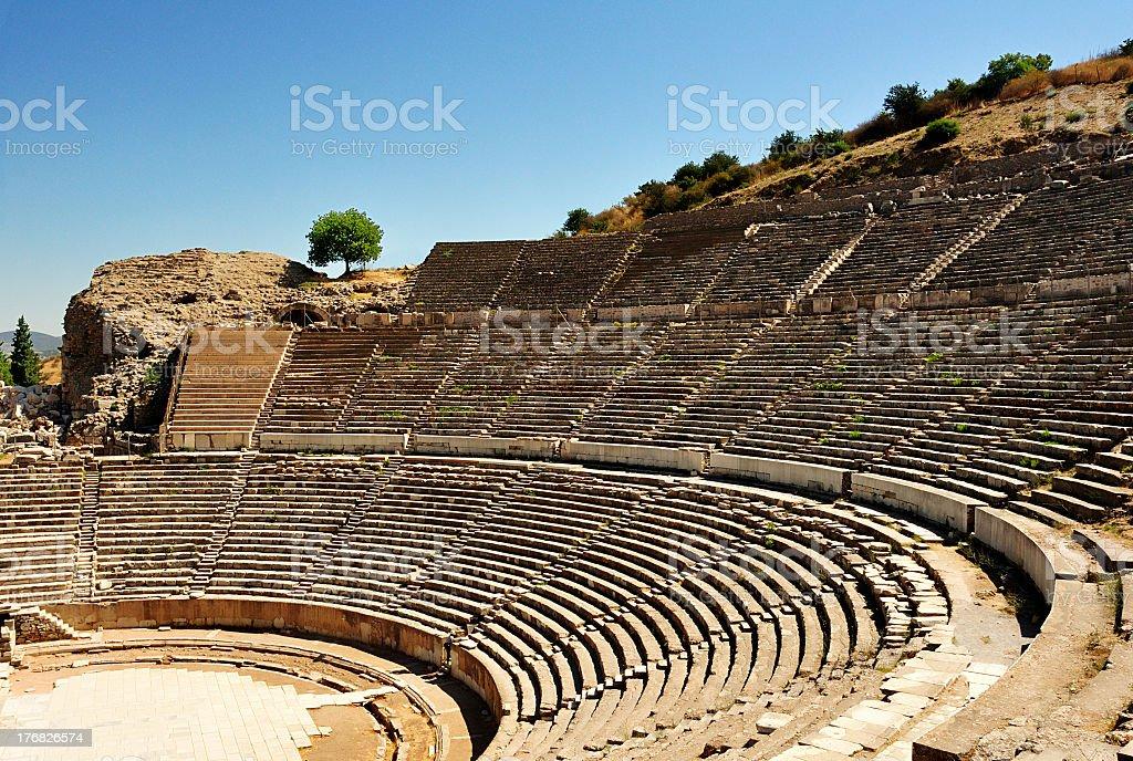 Ephesus Amphitheater in Turkey on a nice day stock photo