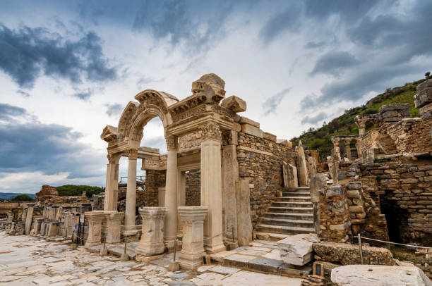 Ephesus Ancient City in Turkey stock photo