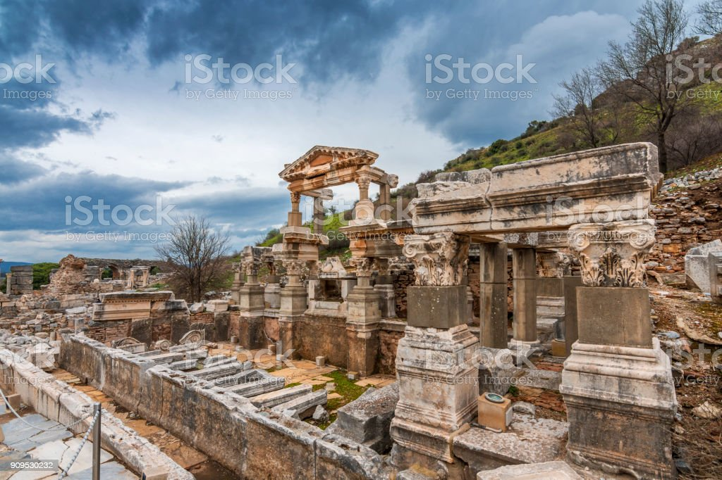 Ephesus Ancient City in Turkey stock photo