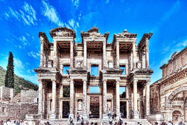 Ephesus ancient library Turky celsus library stock pictures, royalty-free photos & images