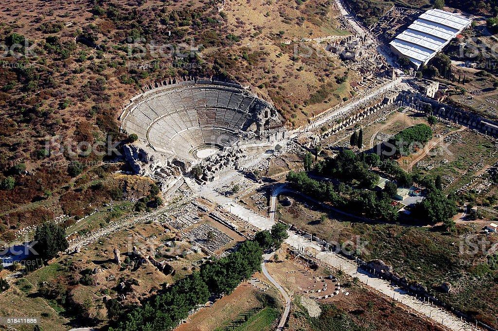 Ephesus Ancient Theater stock photo