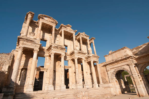 Ephesus Celsius Library Ephesus Celsius Library ephesus stock pictures, royalty-free photos & images