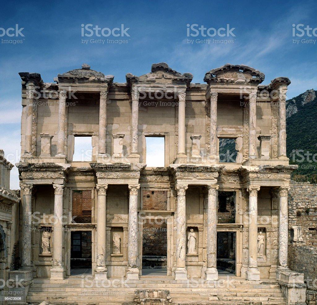 Ephesos Grad Celsius Bibliothek, Türkei Lizenzfreies stock-foto