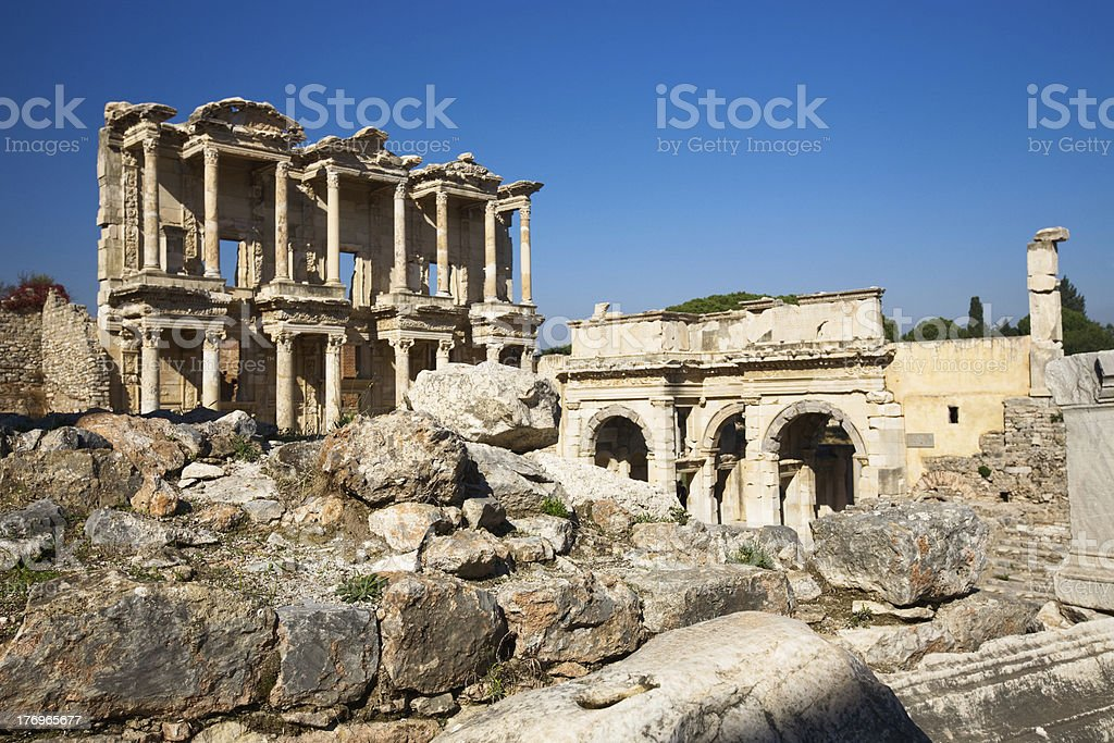Ephesus, Celsus Library royalty-free stock photo