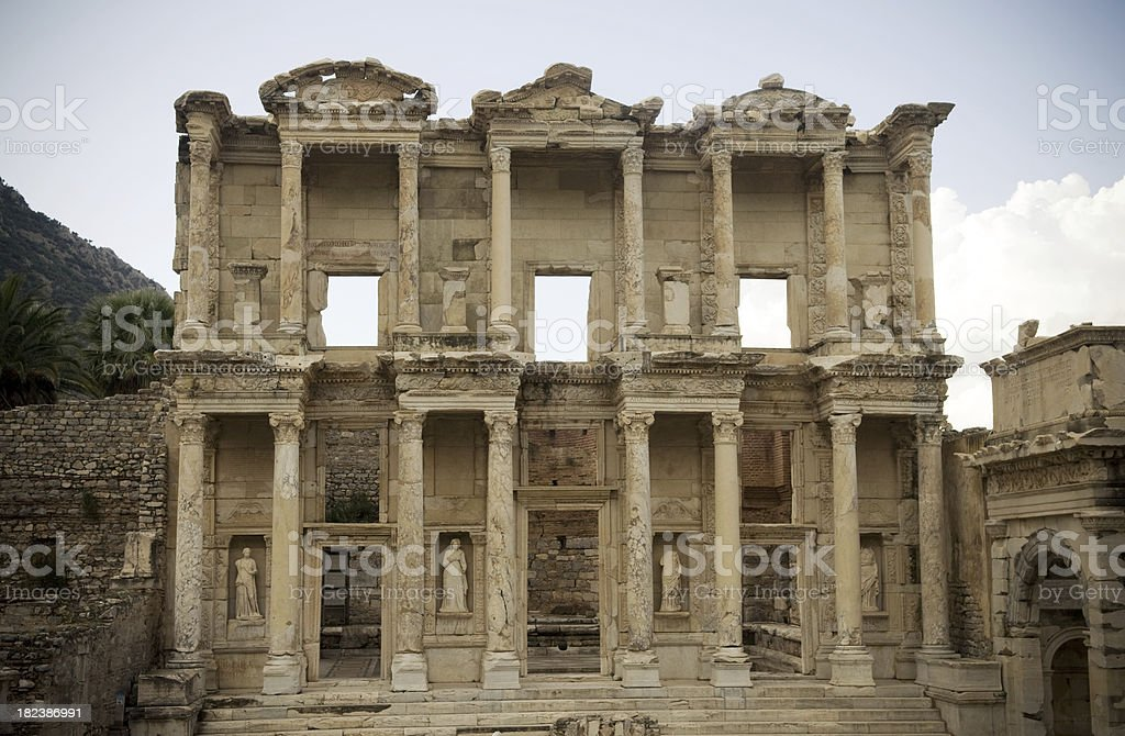 Ephesus Celsus Library Turkey royalty-free stock photo