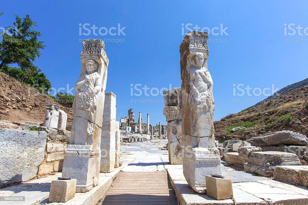 Ephesus Hercules Gate stock photo