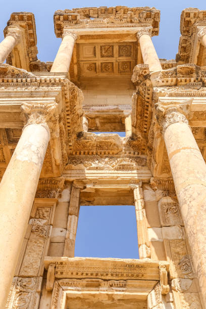 Ephesus, Library of Celsus Ephesus, Library of Celsus. The Roman Library of Celsus at Ephesus, Turkey. Turkey Tours celsus library stock pictures, royalty-free photos & images