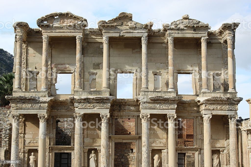 Ephesus Library of Celsus royalty-free stock photo
