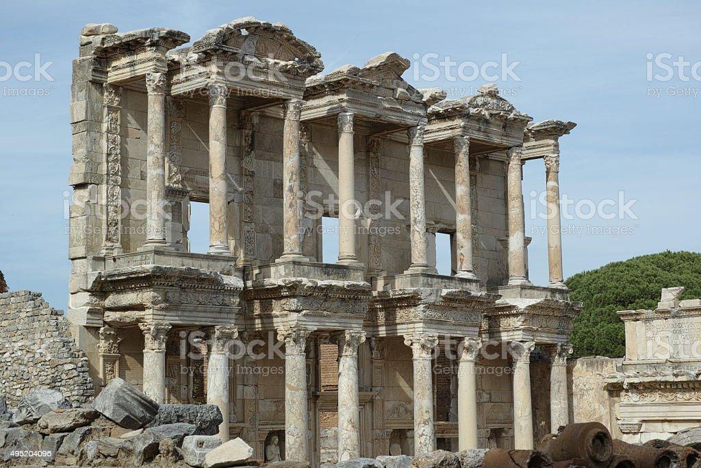 Ephesus Library stock photo