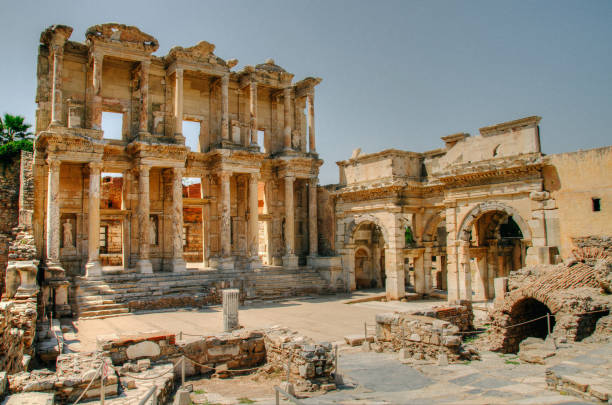 Ephesus Celsus Library in the Ephesus celsus library stock pictures, royalty-free photos & images
