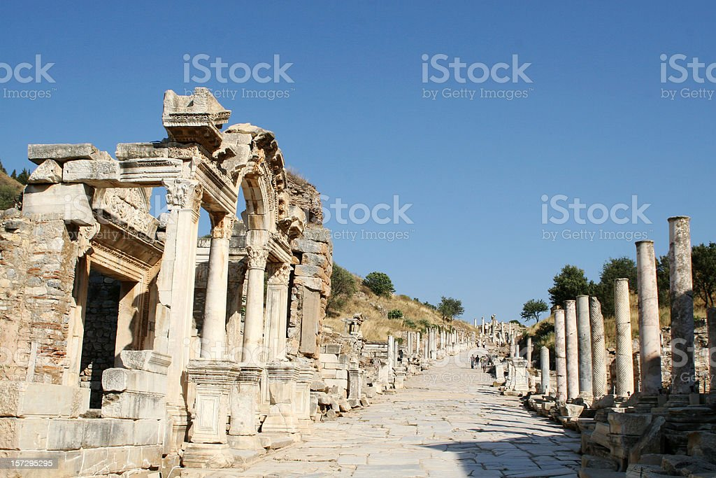 Ephesus road stock photo