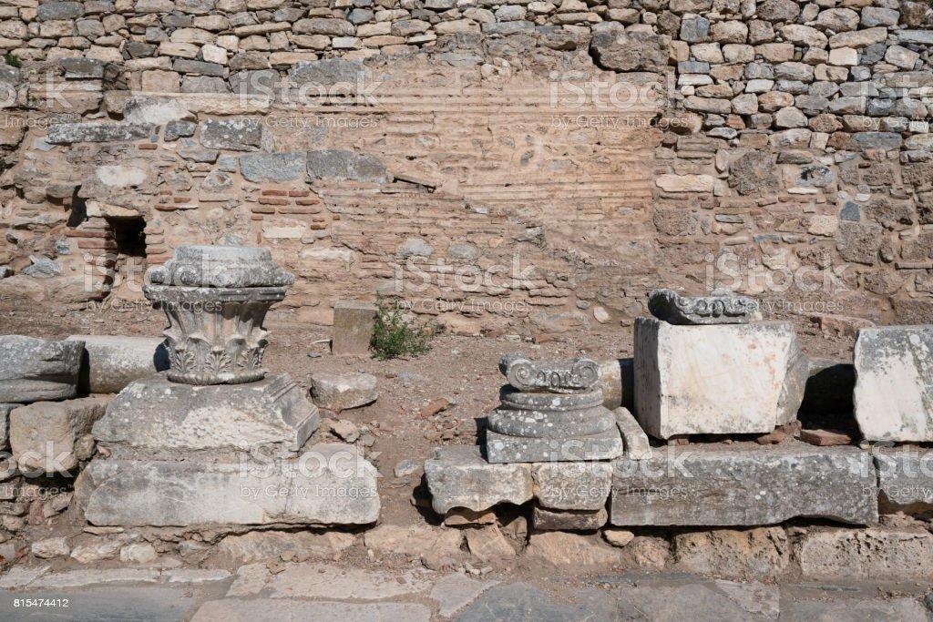 Ephesus Ruins in İzmir City stock photo