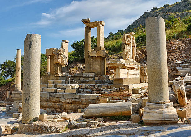 Ephesus Ruins Ephesus, Turkey ruins on a sunny day. ephesus stock pictures, royalty-free photos & images