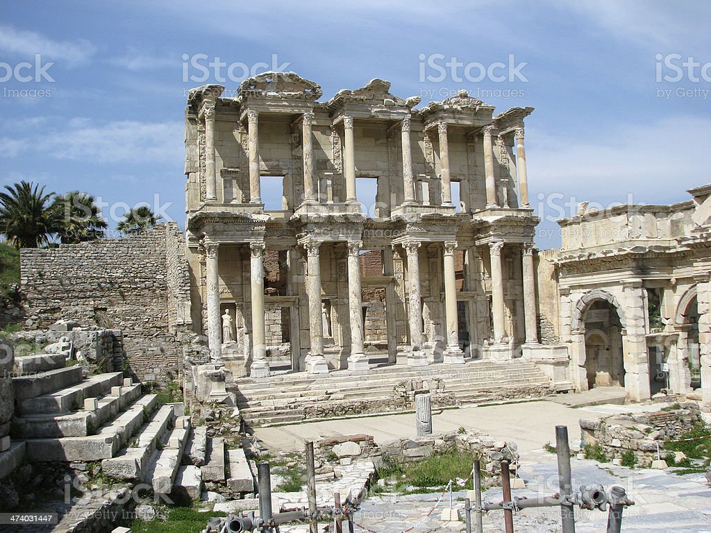 Ephesus:  The Library of Celsus stock photo