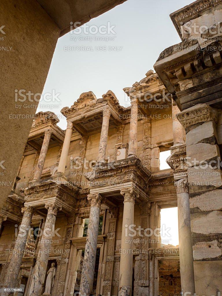 Ephesus the UNESCO World Heritage Site. stock photo