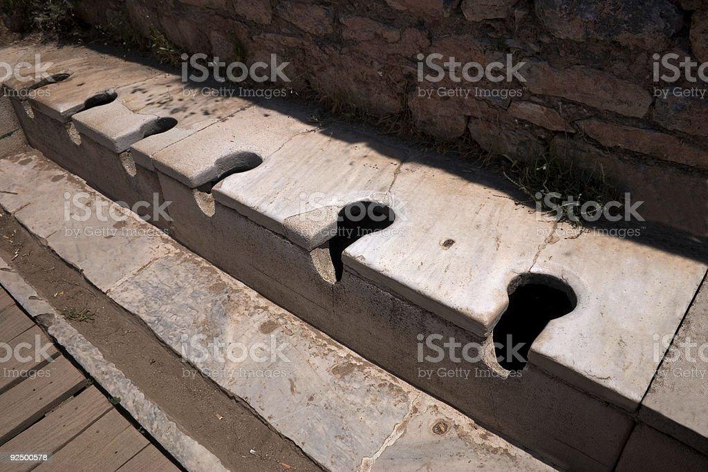 Ephesus Toilets royalty-free stock photo