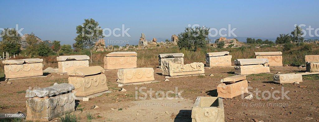 Ephesus Tombs royalty-free stock photo