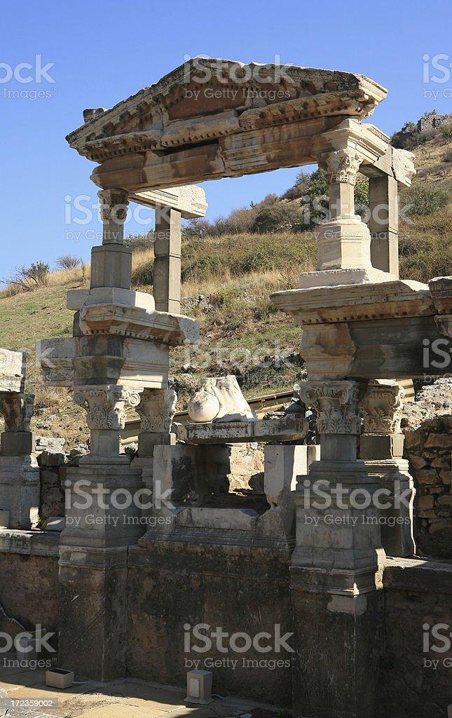 Ephesus,he ruins royalty-free stock photo
