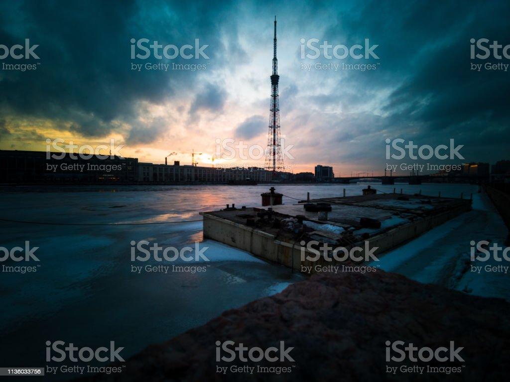 Gloomy weather at moskovski vorota station