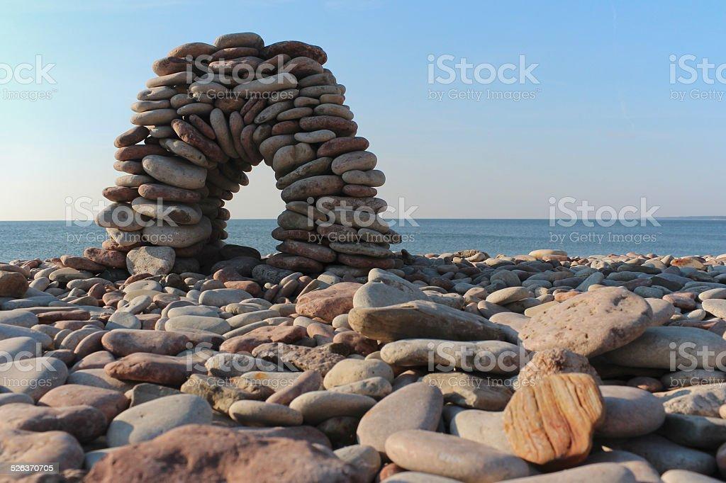 Epic stone construction stock photo