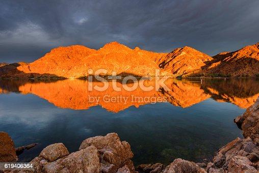 Beautiful sunrise at Colorado River Nevada