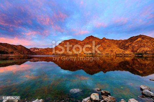 Beautiful sunrise of Colorado River