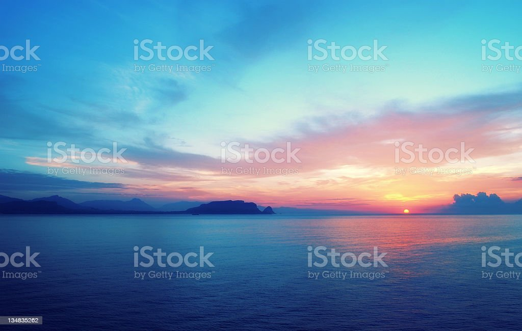 Epic sunrise in South Europe royalty-free stock photo
