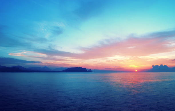 Epic sunrise in South Europe stock photo
