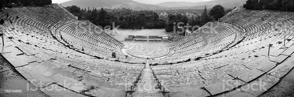 epidauros theatre royalty-free stock photo
