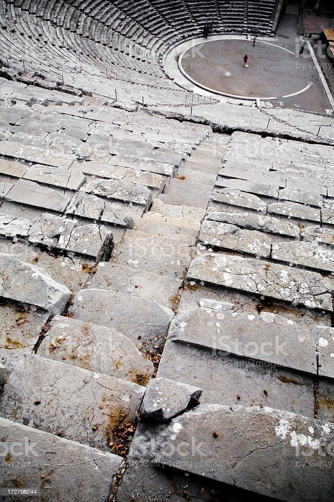 Epidaurus Amphitheater, Greece royalty-free stock photo
