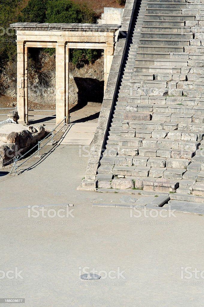 Epidaurus, ancient theater in Greece royalty-free stock photo