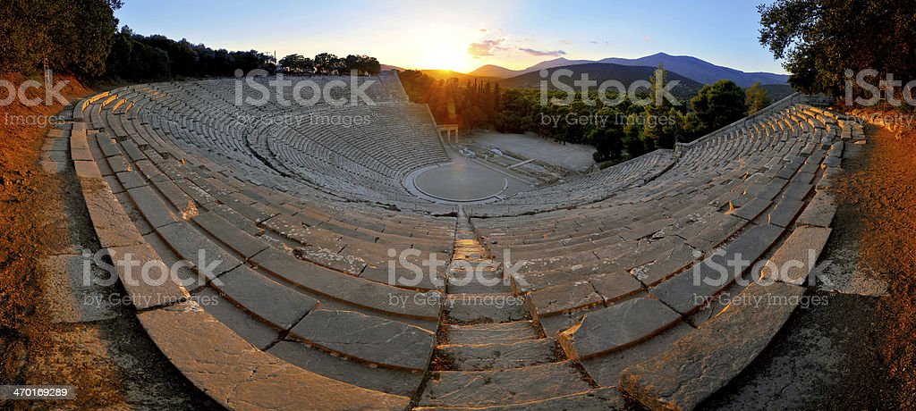 Epidaurus theater stock photo