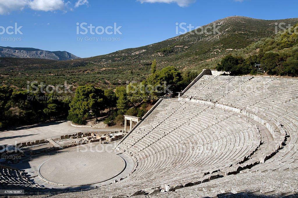Epidaurus theater royalty-free stock photo