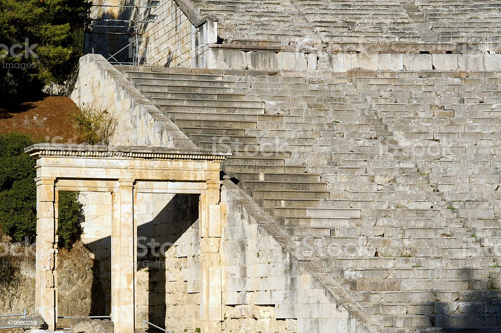 Epidaurus theater royalty-free stock photo