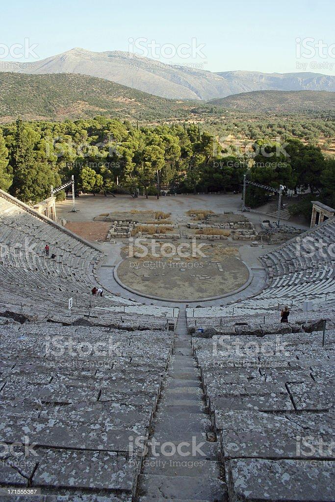 epidavros theatre royalty-free stock photo