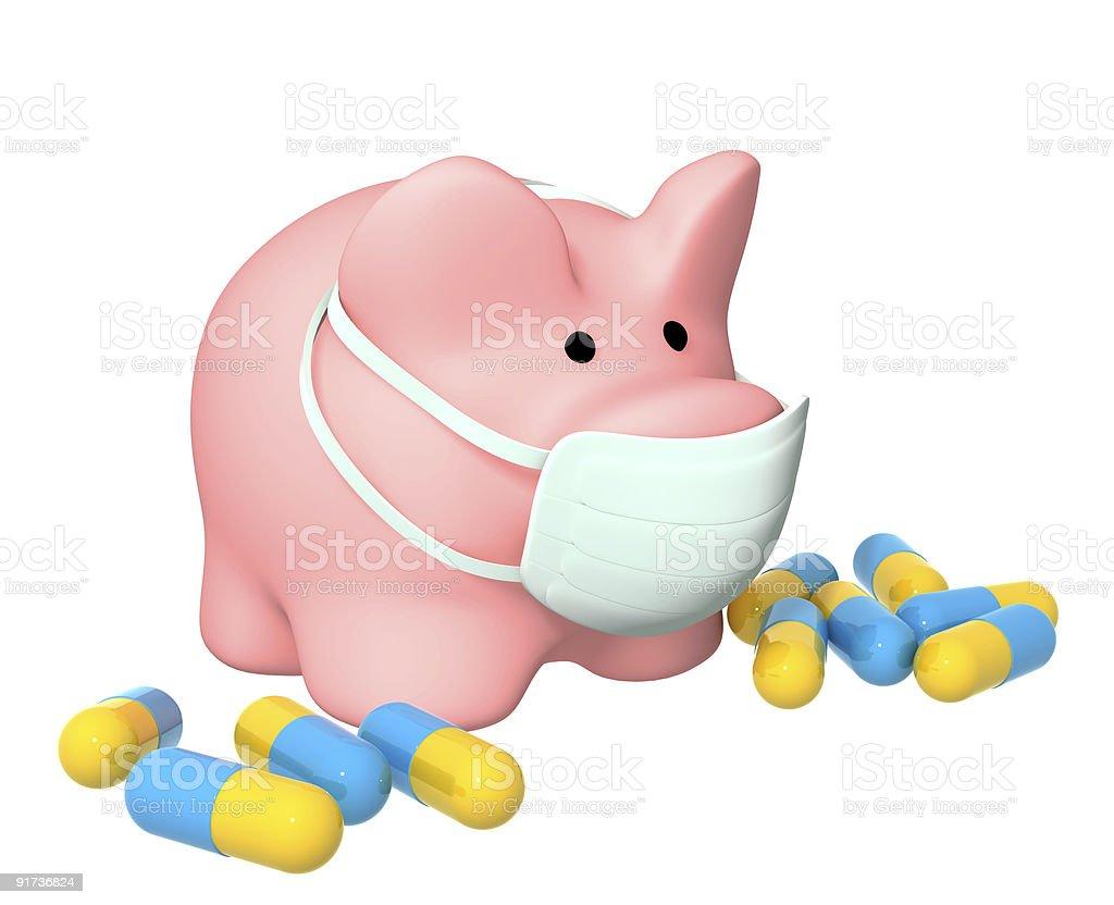 Epidemic of a swine flu royalty-free stock photo