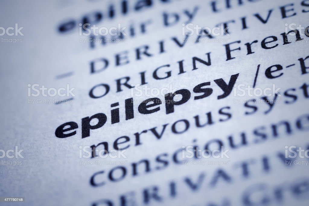 Epilepsy: Dictionary Close-up stock photo