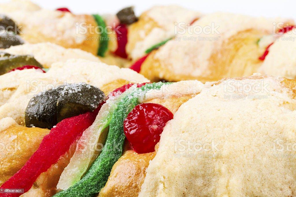 Epiphany cake, Rosca de Reyes, mexican food royalty-free stock photo