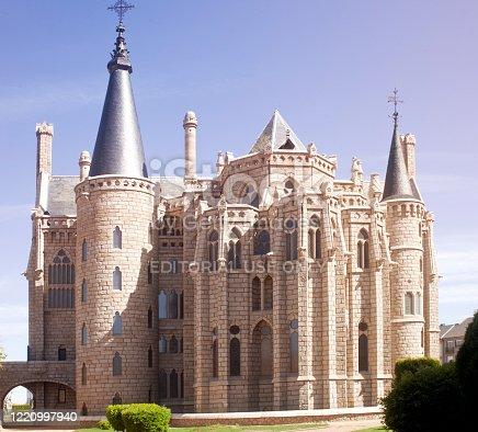 istock Episcopal Palace in Astorga, León province, Spain. 1220997940