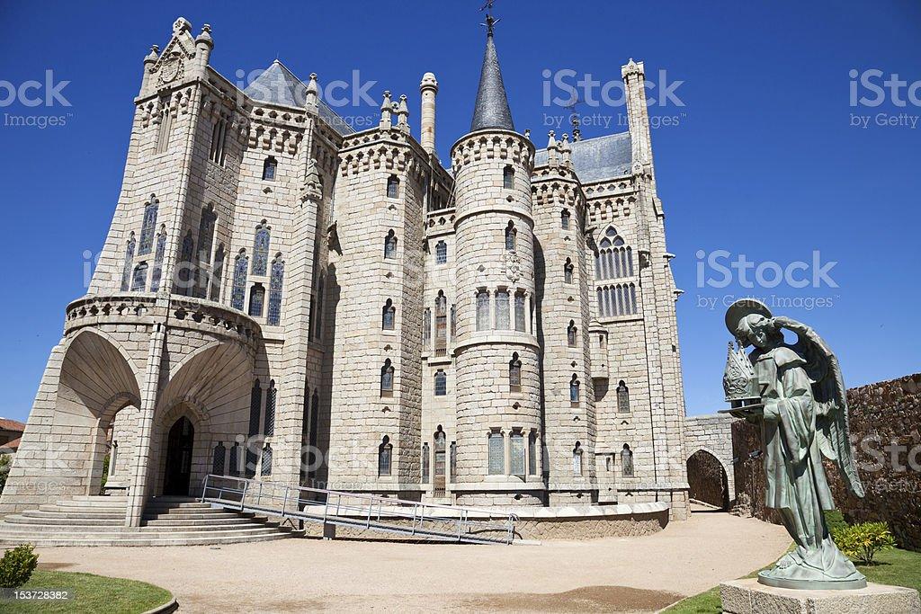 Episcopal palacio de Astorga de Gaudí - foto de stock