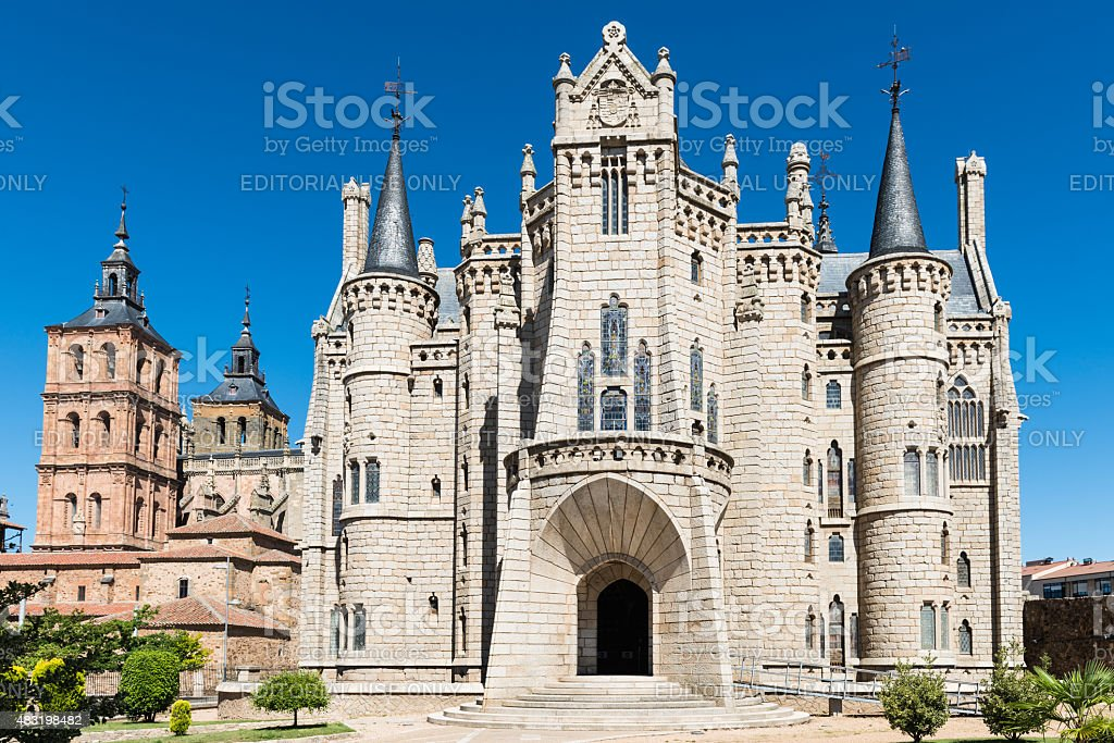 Palacio de Astorga Episcopal - foto de stock