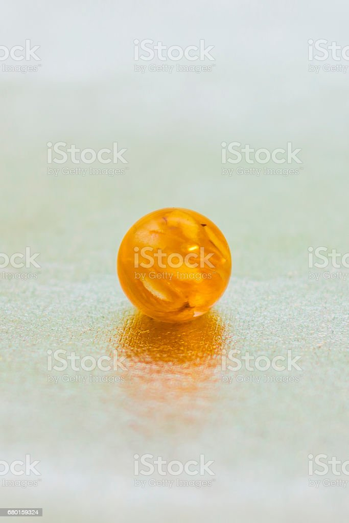Epoxy resin ball shaped crystal stock photo