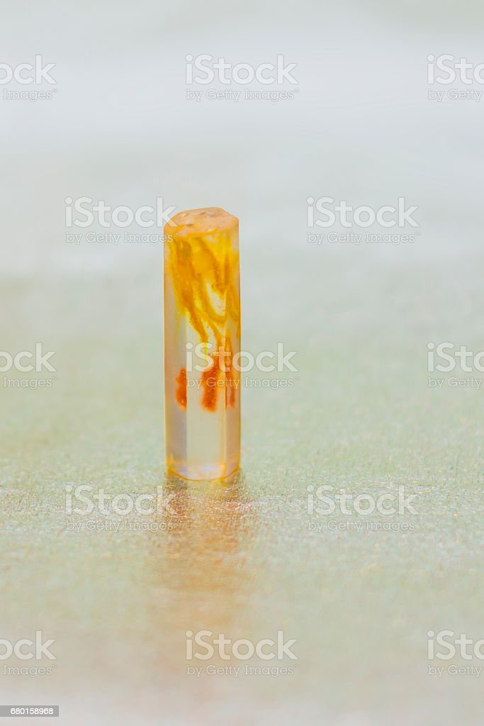 Epoxy resin crystal stock photo