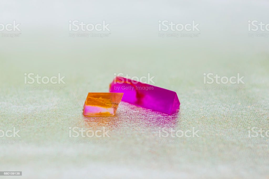 Epoxy resin crystals stock photo