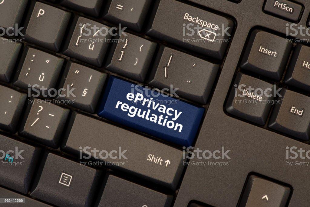 ePrivacy regulation on keyboard button zbiór zdjęć royalty-free