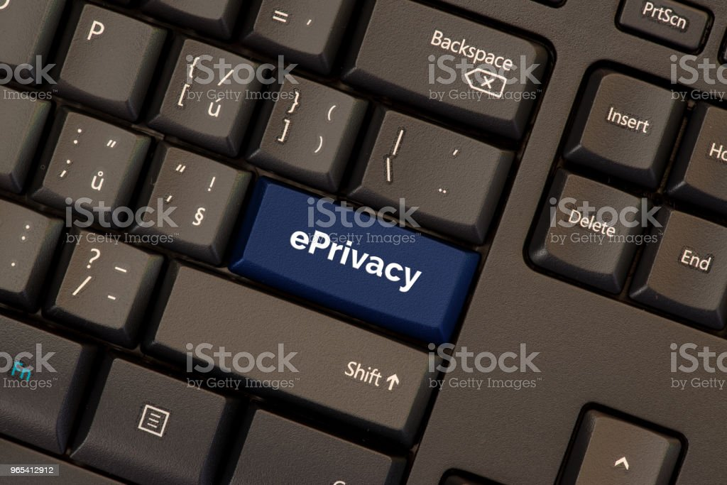 ePrivacy regulation on keyboard button zbiór zdjęć royalty-free