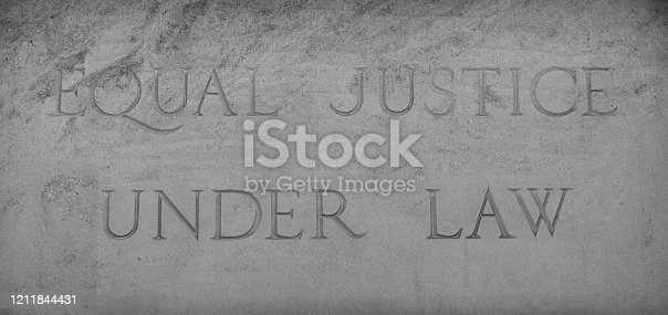 Equal Justice Under Law On Stone Sign