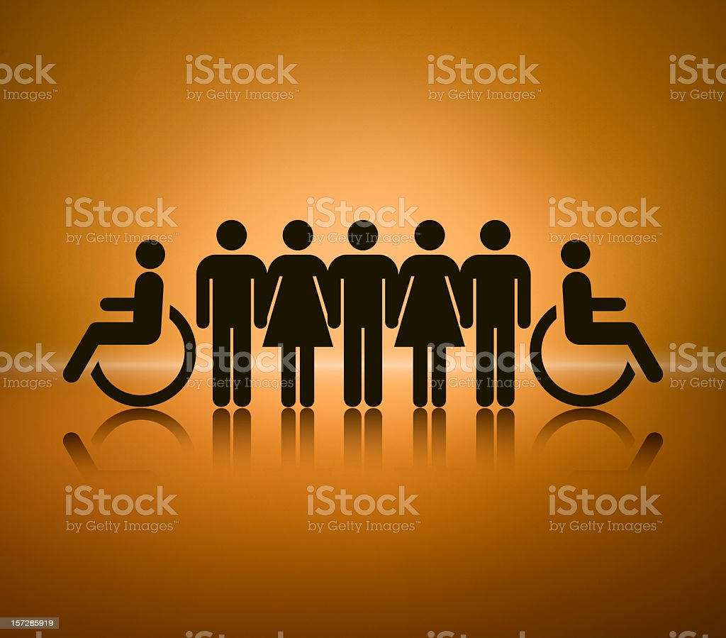 Equal Opportunities royalty-free stock photo
