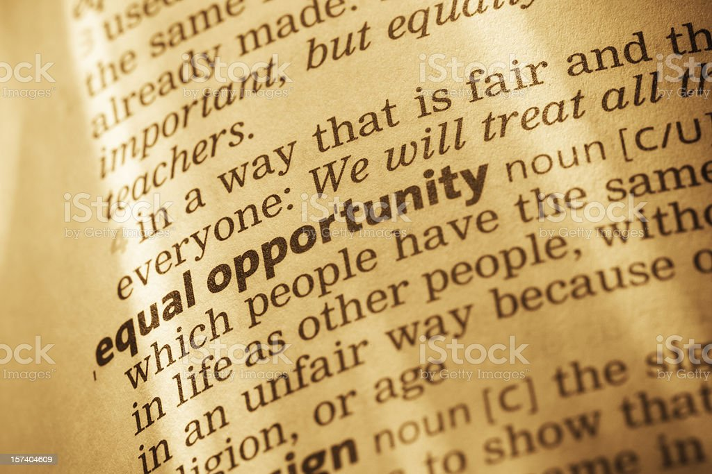 Equal Opportunity royalty-free stock photo